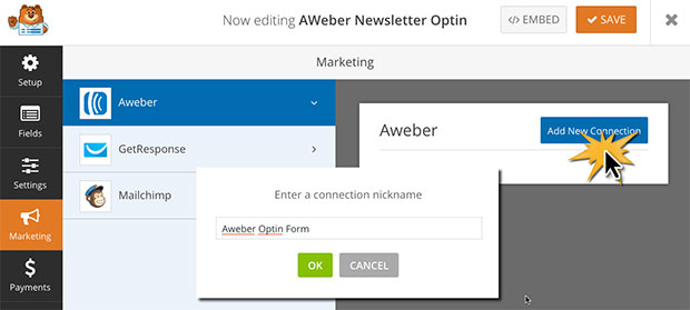 how to create an opt in form wordpress
