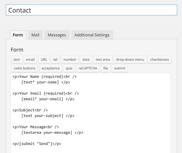 WPForms vs Contact Form 7