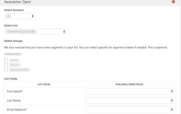 Newsletter Optin Settings For WordPress rss Mailchimp