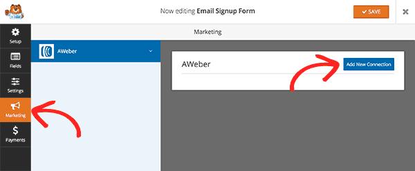 Using Aweber addon in WPForms