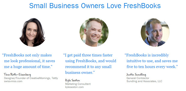FreshBooks Social Proof Example