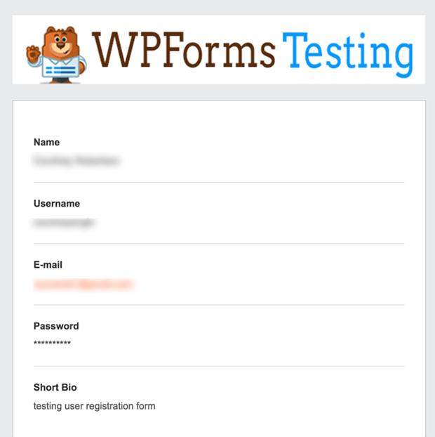 User registration form email notification header graphic