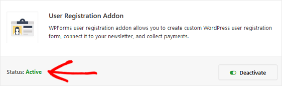 WPForms User Registration Addon