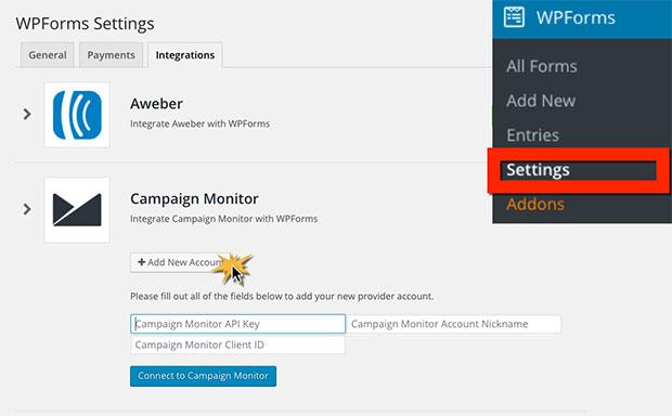 Add Campaign Monitor