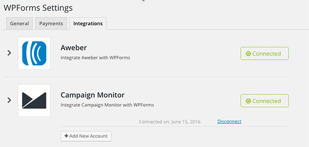 Campaign Monitor Connected