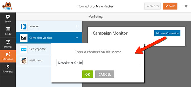 Campaign Monitor Marketing Connection