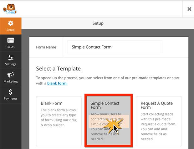 How to create a simple contact form