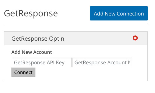 GetResponse Add API Key