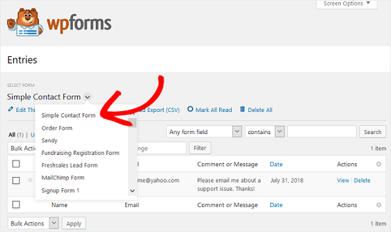How to Export WordPress Form Entries to CSV (Step by Step)