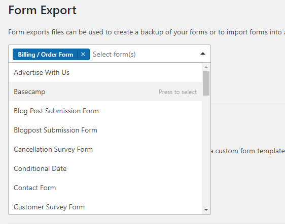 How to Export a Contact Form in WordPress - WPForms