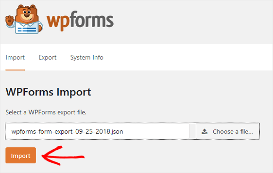 import form