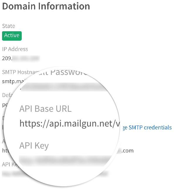 Mailgun API Key