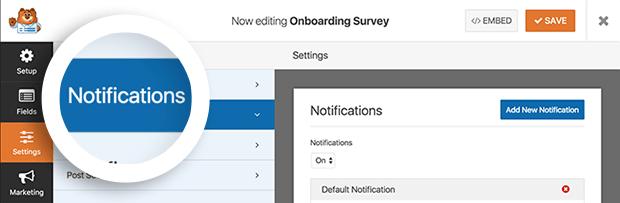 settings » notifications