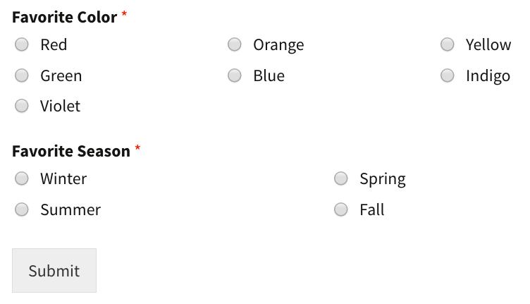 WordPress Poll Form
