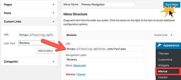 add custom post types to navigation menus
