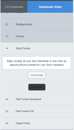 CSS Hero readymade form styles for WPForms