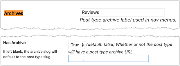 Enable an archive page for your Reviews