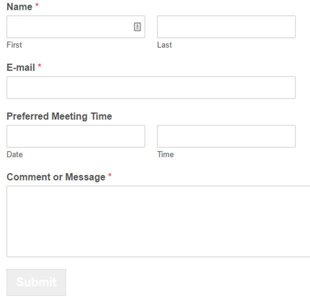 how to create a booking form