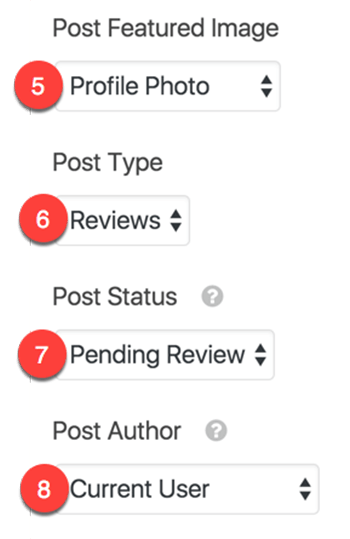 review form post submission settings lower half