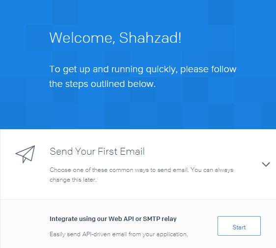 sendgrid integrate web API