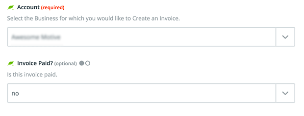 WordPress invoice form settings