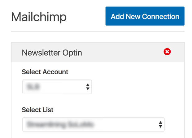 connecting contact form and mailchimp list