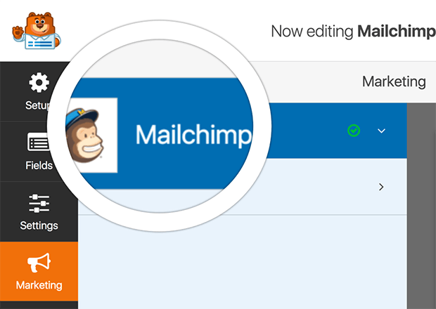 connecting contact form and MailChimp