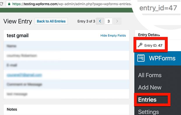 entry id
