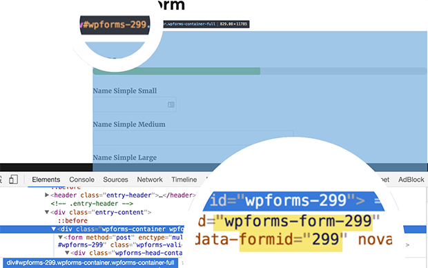 view form id in WPForms