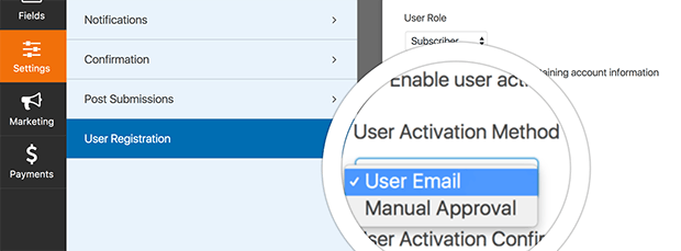 stop spam registration by requiring user activation by email