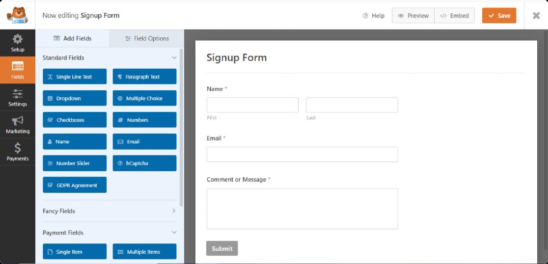 WPForms-form-builder