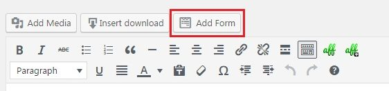 add your form to the wordpress contract agreement page
