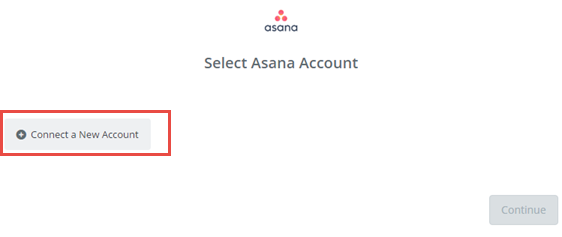 connect a new asana account