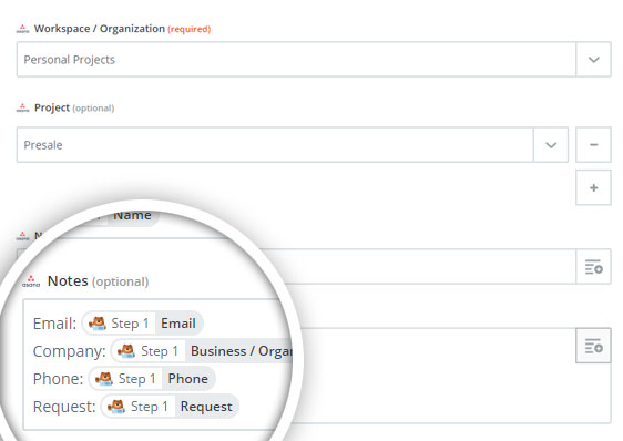 customize asana task