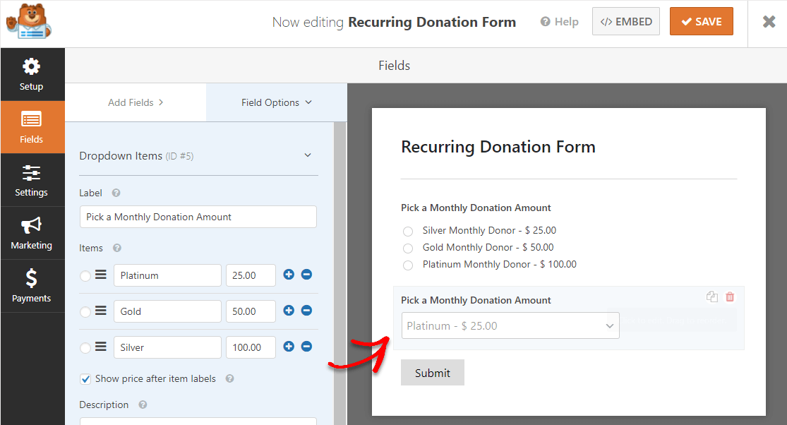 donation forms tips to get people to give money
