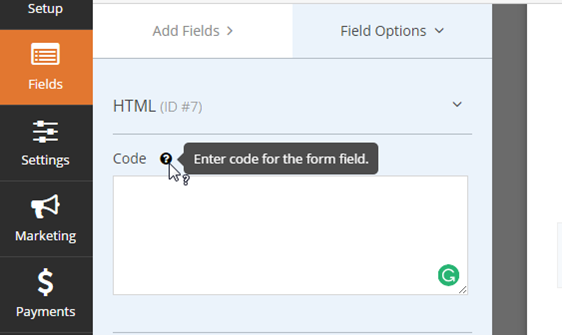add custom HTML to your WordPress forms