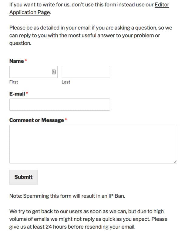 Contact Form in Your WordPress Post Content