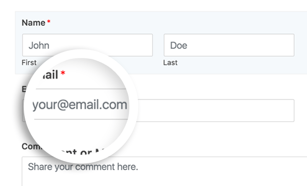 html5 wordpress contact form placeholder text preview