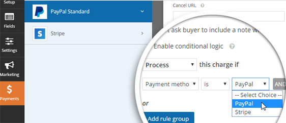 configuring paypal settings