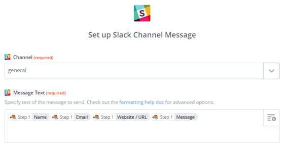 set up slack channel