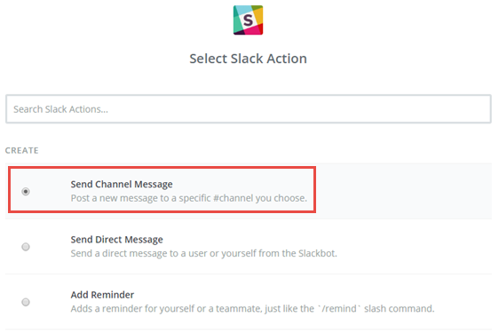 send channel message in slack