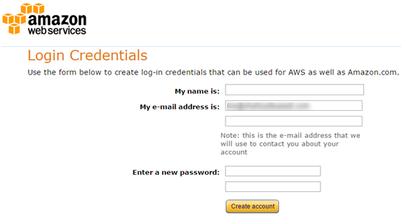 Login Credentials for AWS