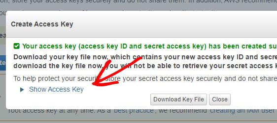 click show access key