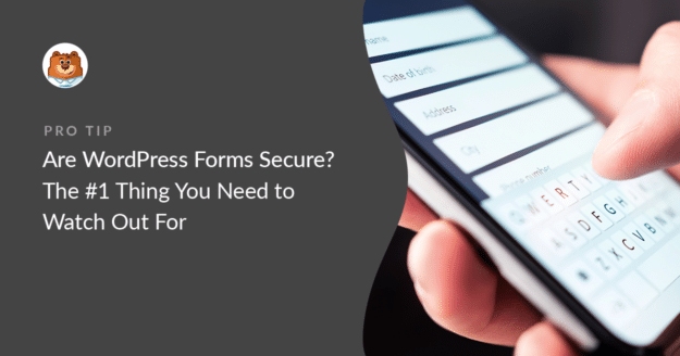 Are WordPress forms secure?