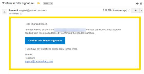 confirm sender signature
