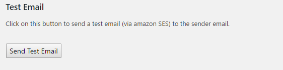 test email in WP SES