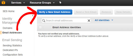 verify new email address in amazon ses