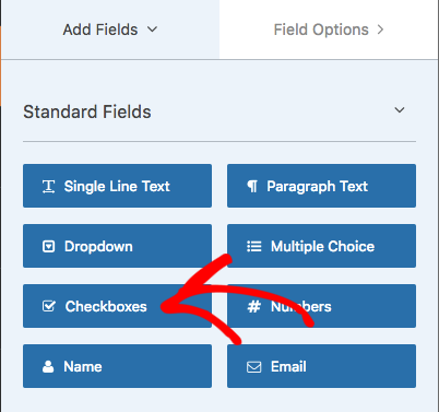 Add checkboxes to form