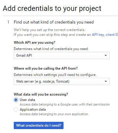 add credentials details