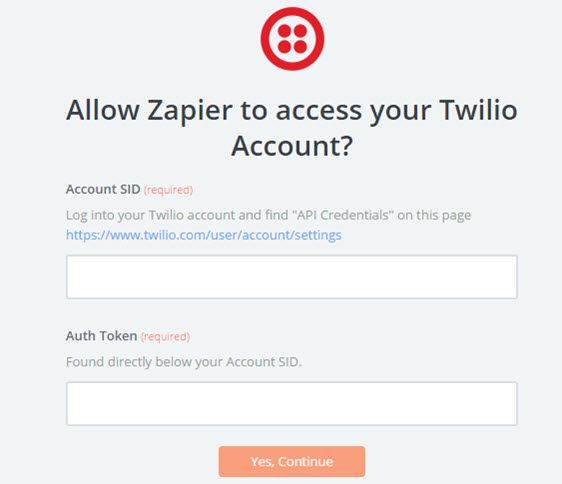 allow zapier to access twilio